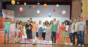 учесници позоришне представе МАЛИ ПРИНЦ