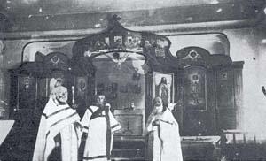 Црква Донског Кадетског Корпуса у Билећи - (О. Босцановски, О.Трофимов и ђакон Цуканов)
